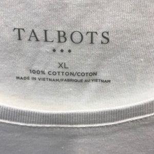NWT Talbots white long-sleeve t-shirts